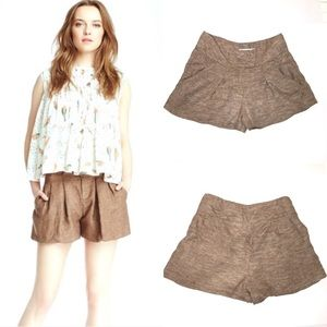 See by Chloe Flax Tweed Pleated Shorts